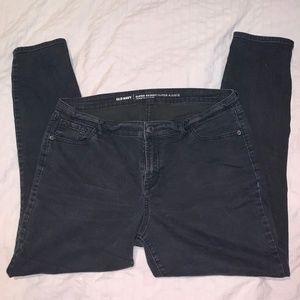 Old Navy Super Skinny Mid-Rise Black Jeans – 14